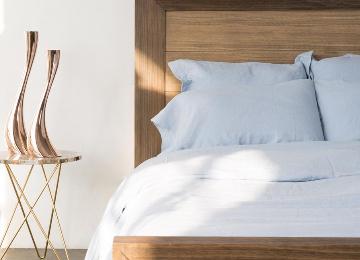 Linen Bundle Set on Bed Second Angle