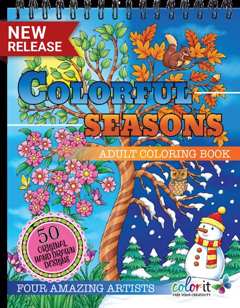 Colorful Seasons Adult Coloring Book