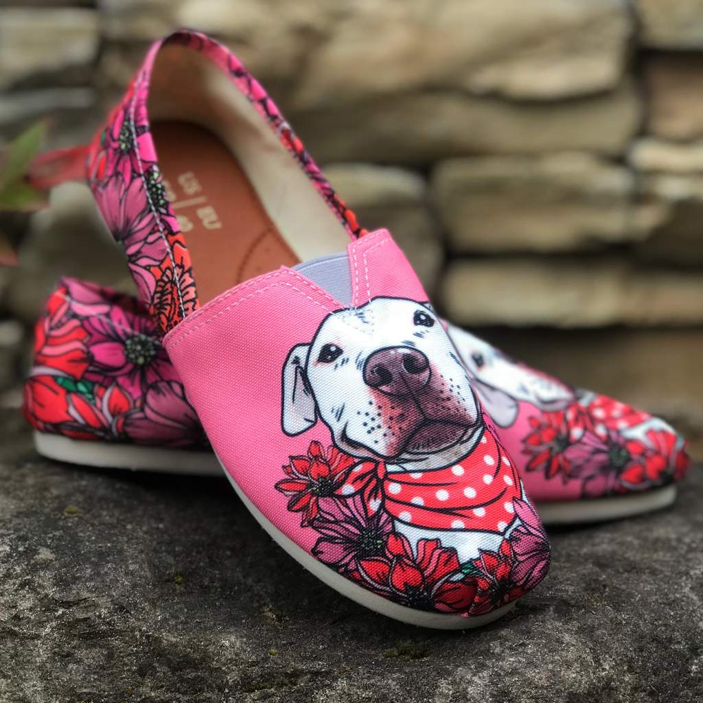Floral Pit Bull Casual Shoes