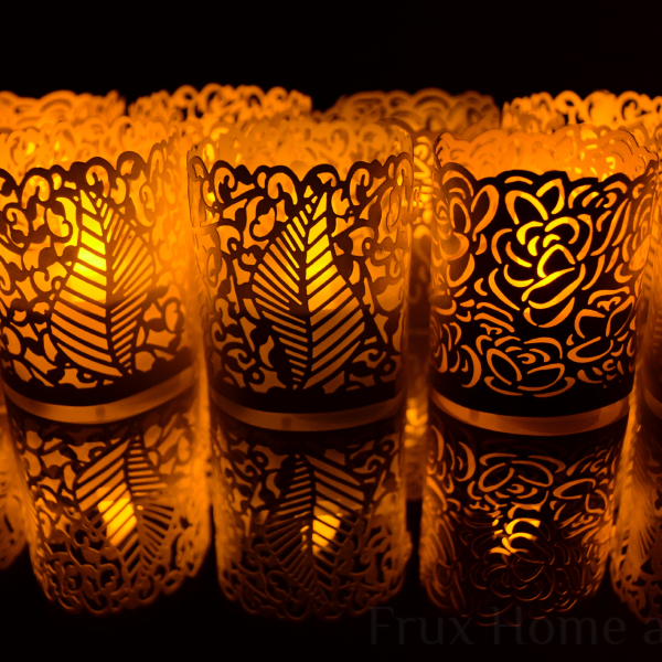 flameless tea lights with wraps