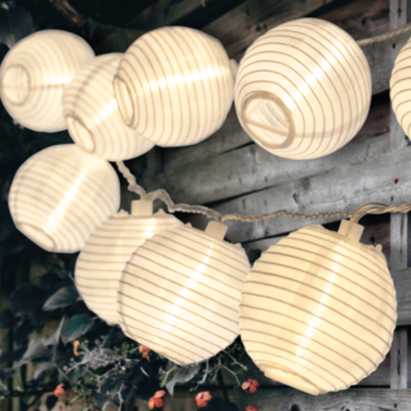 White Patio Lanterns