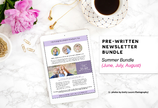 Pre-written newsletter template bundle quarter 1