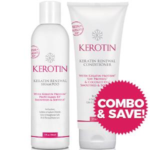 Combo - Keratin Renewal Shampoo & Conditioner - 8oz Bottles + FREE Shipping