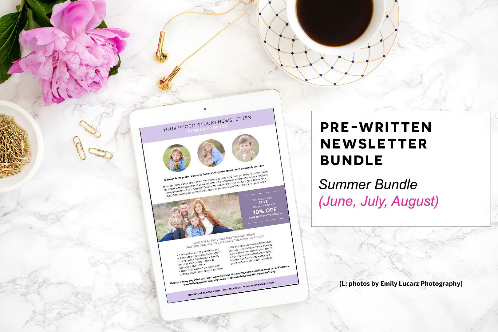 Pre-Written Newsletter Template Bundle