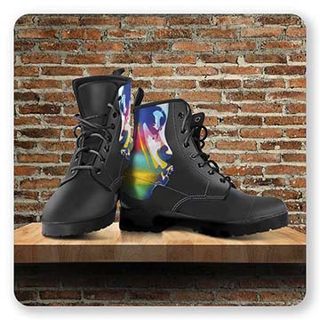 Leather Boots - Kiss Rainbow 2