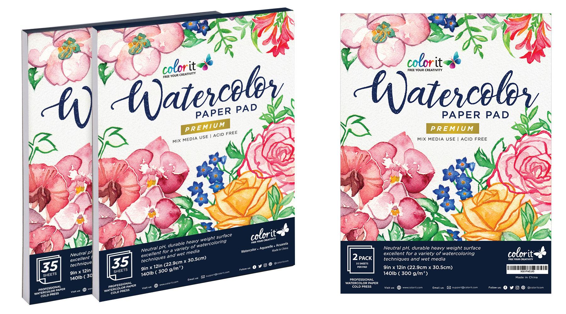 ColorIt watercolor paper pads