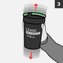 Replace lid and shake for 15 seconds