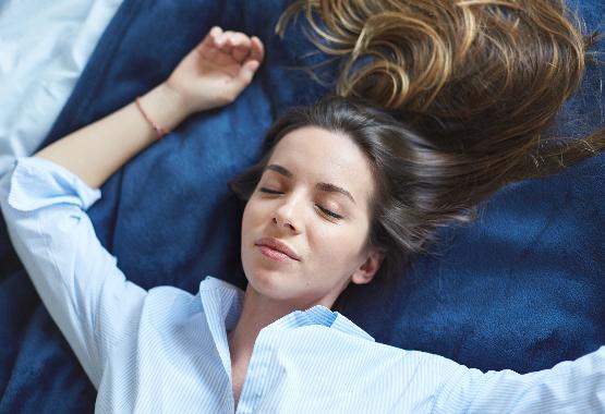 Relaxing before sleeping