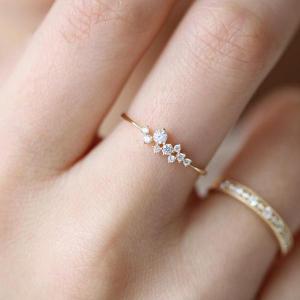 Sasha Sparkle Ring 18K Gold Vermeil/925 Sterling Silver