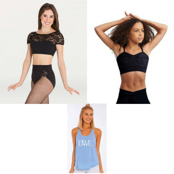 Dancewear Corner Bra Tops and Tops