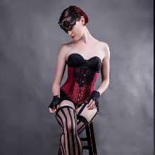 Beautiful Beneath, vintage lingerie inspired version of the Arabesque shapewear corset