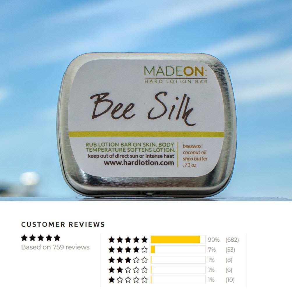 Beesilk hard lotion bar