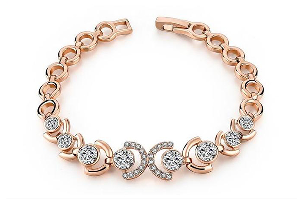 Rose Gold & Ice Bracelet