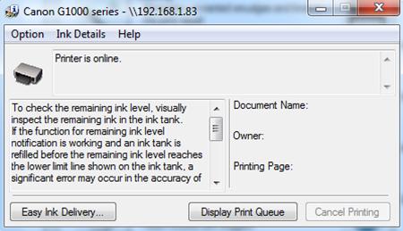 Printer Ready
