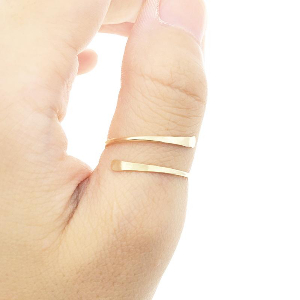 Minimalist Thumb Ring 14K Gold Vermeil/Rose Gold/925 Sterling Silver