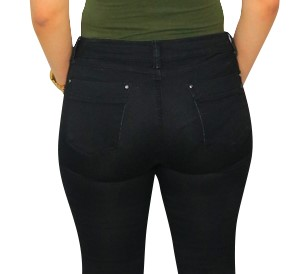 Moda Jeans Formatum 100% Made in Colombia Butt Lifter Women Jeans Juniors & Plus- Pantalones Colombianas Levantacola- Black 1405