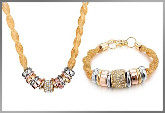 Entwined Gold Metal Bracelet Bundle Offer