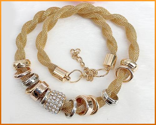 Entwined Gold Metal Necklace Bundle Offer