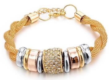 Entwined Gold Metal Bracelet & Necklace Bundle Offer