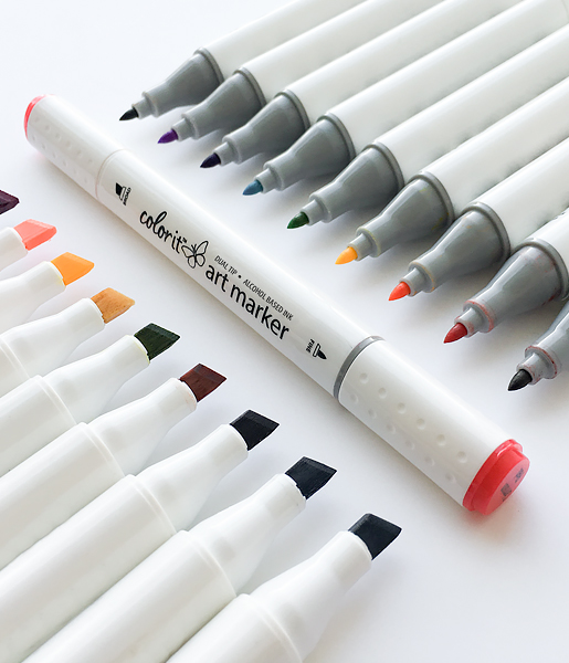 ColorIt dual-+tip markers