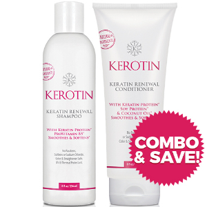 Combo - Keratin Renewal Shampoo & Conditioner - 8oz Bottles + FREE Shipping