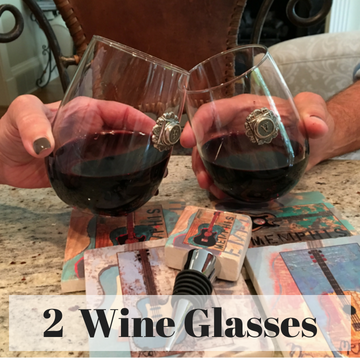 Two Wine Glasses with YOUR Initial