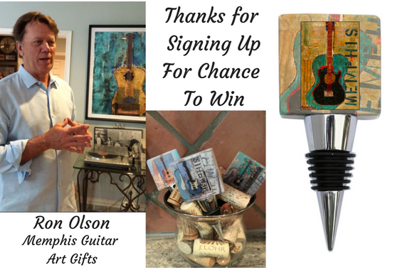 Thanks for signing up for chance to win Ron Olson Memphis Guitar Gifts