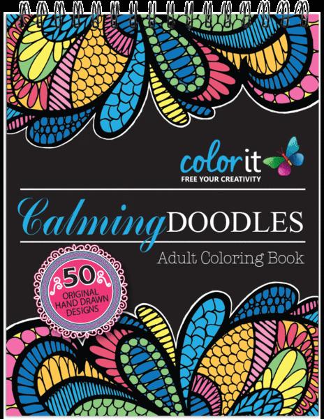 Calming Doodles Volume 1 Illustrated By Virginia Falkinburg