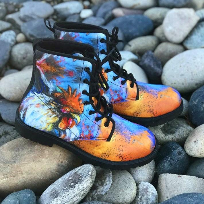 Colorful Chicken Boots