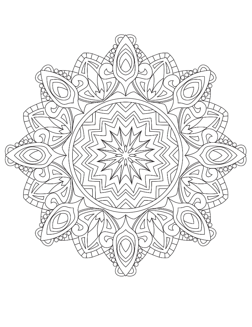 Mandalas To Color Vol 1- Summer