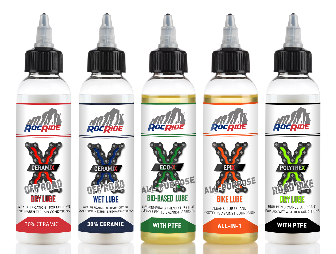 RocRide® Full Line of Chain Lubes