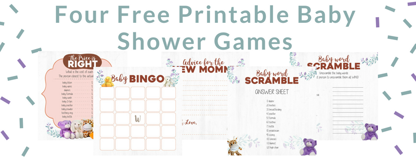 Wild Baby Four Free Gender Neutral Baby Shower Games