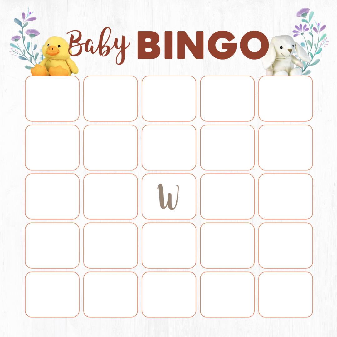 Wild Baby Baby Shower Bingo