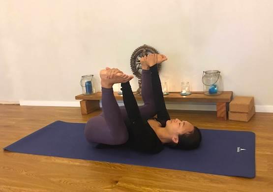 Shantihi Yoga Happy Baby Pose