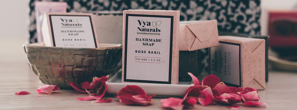 Rose Basil Handmade Soap from Vya Naturals