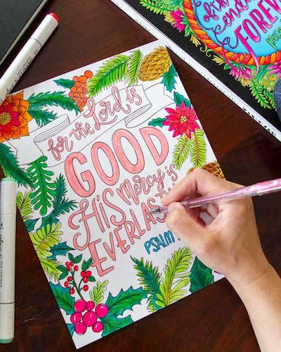 ColorIt Colorful Scriptures Adult Coloring Book