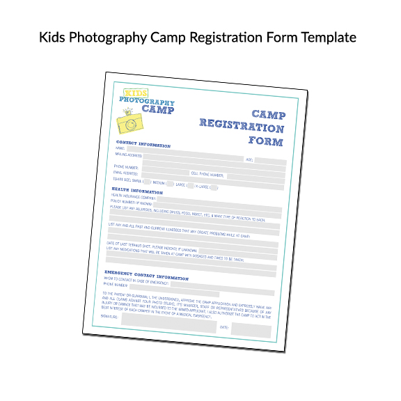 Teach Photography to Kids Camp Curriculum