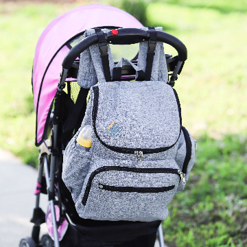 Diaper Bag Backpack with stroller straps