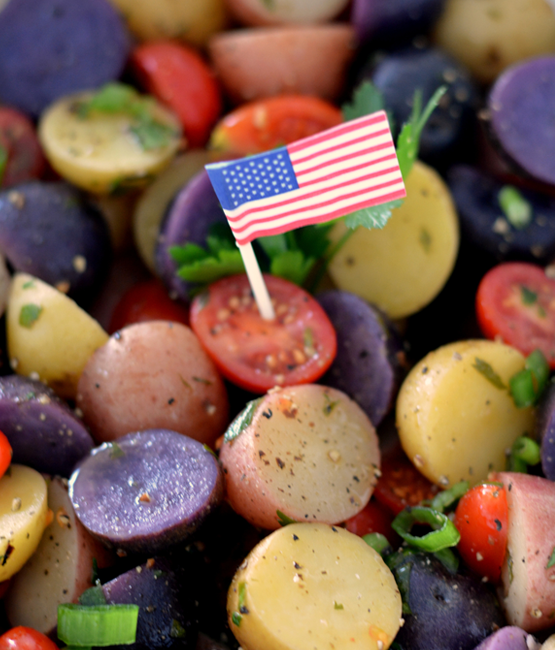 patriotic healthy salad