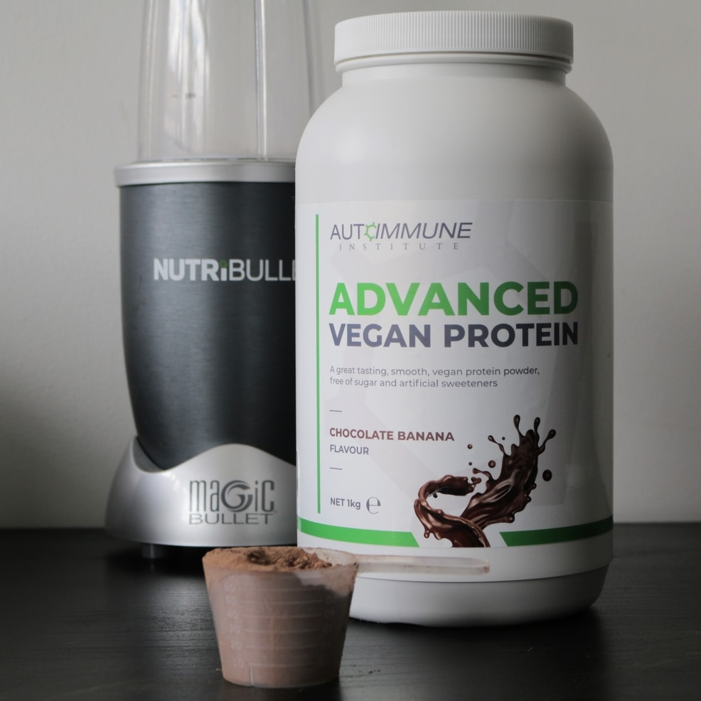 Vegan Protein with Scoop and Blender
