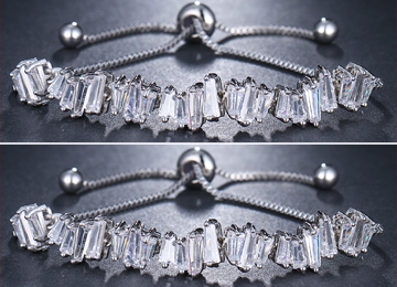 Baguette Crystal Adjustable Bracelet Bundle Offer
