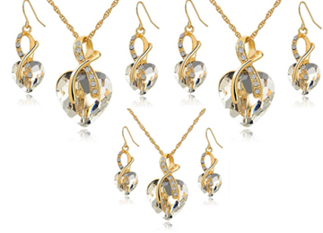 Wishful Heart Necklace and Earring Set Bundle Offer