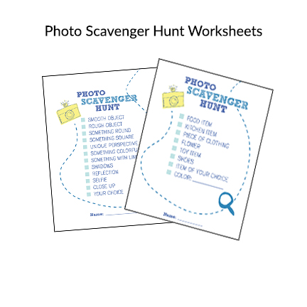 Photo Scavenger Hunt Pages