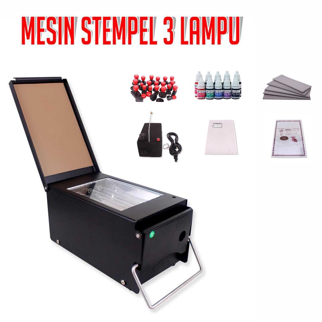 Mesin Stempel Flash Fast Print 3 Lampu