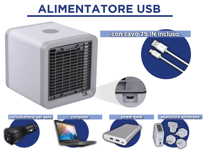 Cool Air Mini climatizzatore portatile