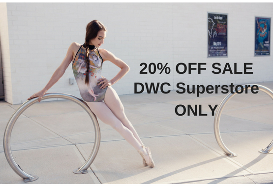 Dancewear Corner Anniversary Event 20% Off Sale