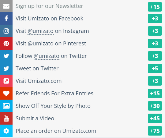 Umizato June 2018 Giveaway Main Ways to Win