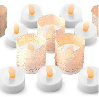 LED tea lights with white wraps