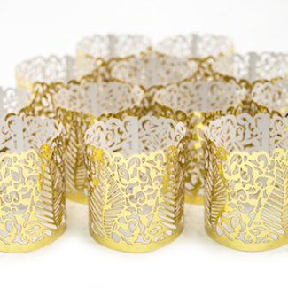 gold tealight wraps (tealight not includded)