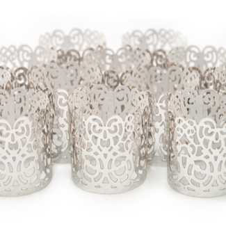 silver decorative wraps for tealights